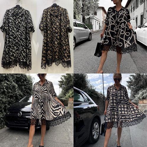 Oversize Kleid Doll Dress mit Spitze - Preis incl. MwSt. Zzgl. Versand