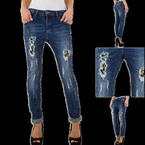 Jeans mit Perlen & Strass  - Preis incl. MwSt. zzgl. Versand