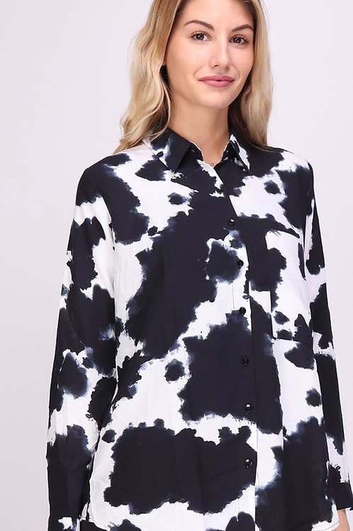 """Coole Bluse """"Annabelle"""" Kuhfell Print- Preis incl. MwSt. zzgl. Versand"""