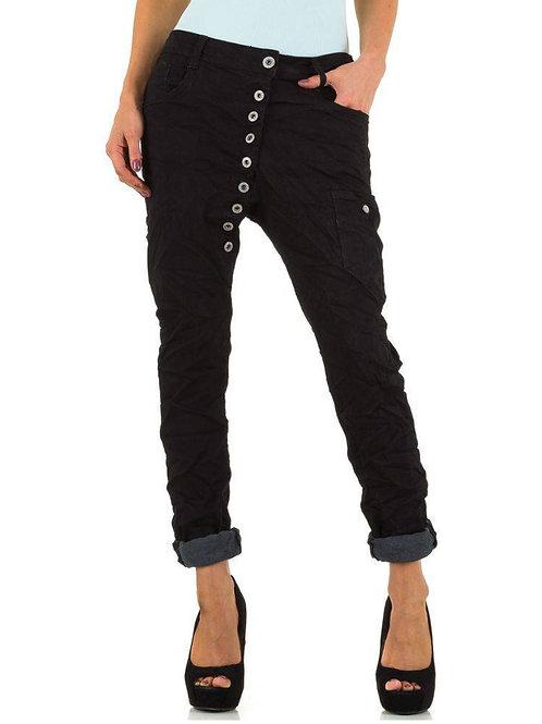 Cargo Pants mit Knopfleiste schwarz - Preis incl. MwSt. zzgl. Versand