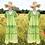 "Thumbnail: Baumwoll Midi Sommerkleid mit Lochstickerei Modell ""Green Fantasy"""