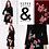 Thumbnail: Samtkleid mit Stickerei schwarz & rot - Preis incl. MwSt. zzgl. Versand