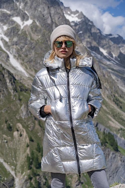 Cooler Steppmantel in Silber - Preis incl. MwSt. Zzgl. Versand