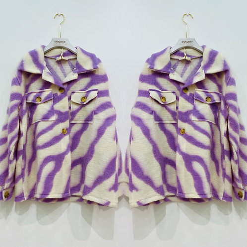 Coole Jacke Oversize zebra in flieder - Preis incl.Mwst.zzgl. Versand