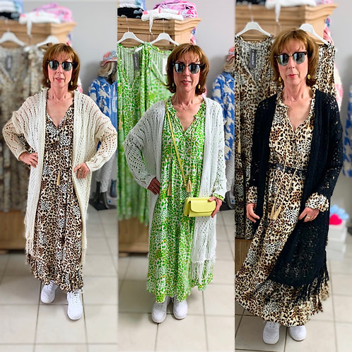 """Baumwoll Boho Haekeljacke Model """" Ibiza Dream"""" in 3 Farben"""