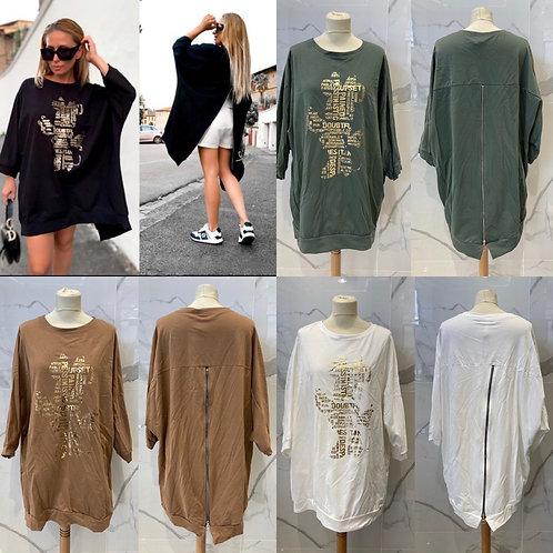 "Sweatshirt Kleid Longshirt ""sweet mouse""-Preis incl.Mwst.zzgl. Versand"