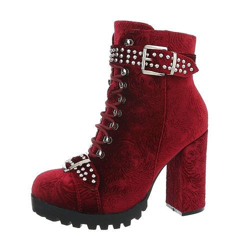 High Heel Stiefelette rot - Preis incl. MwSt. Zzgl. Versand