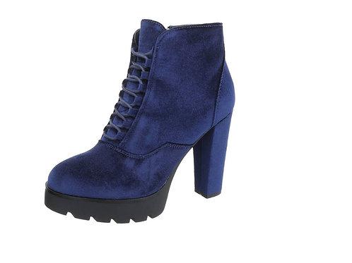 Velvet Stiefelette blau - Preis incl. MwSt. zzgl. Versand