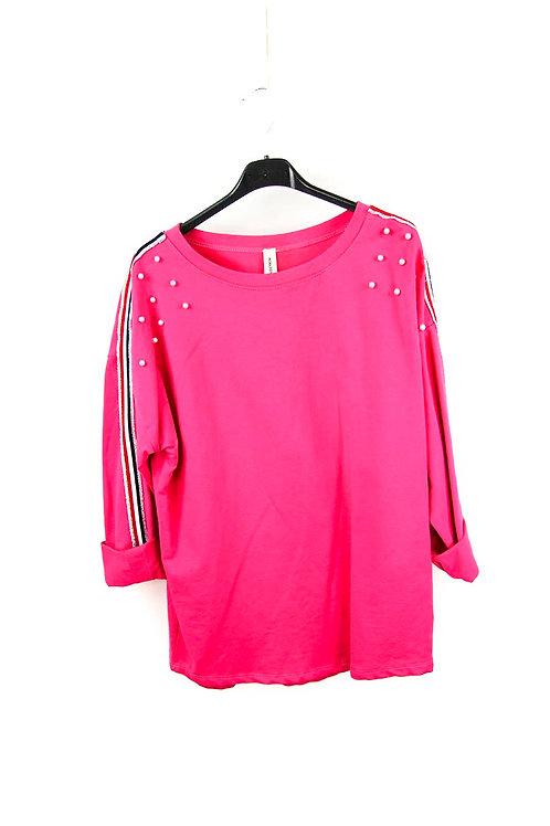 Sweatshirt mit Streifen & Perlen TU bis 40/42 - Preis incl. MwSt. zzgl. Versand