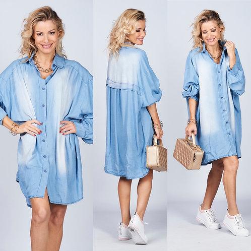 Jeanshemd / Kleid  aus Baumwolle- Preis incl. Mwst. Zzgl. Versand