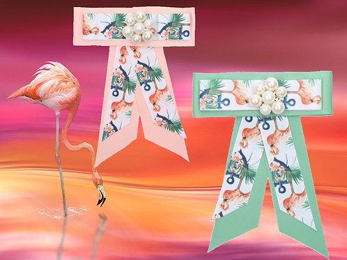 Flamingo Magnet Schleifen Brosche  - Preis incl. MwSt. zzgl. Versand