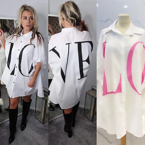 "Bluse ""LOVE""  in 2 Farben - Preis incl. MwSt Zzgl. Versand"