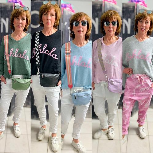 "Kapuzen Pullover ""Ohlala"" in 5 Farben-Preis incl. MwSt. Zzgl. Versand"