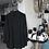 Thumbnail: Longbluse bügelfrei in weiß und schwarz - Preis incl. MwSt . Zzgl. Versand