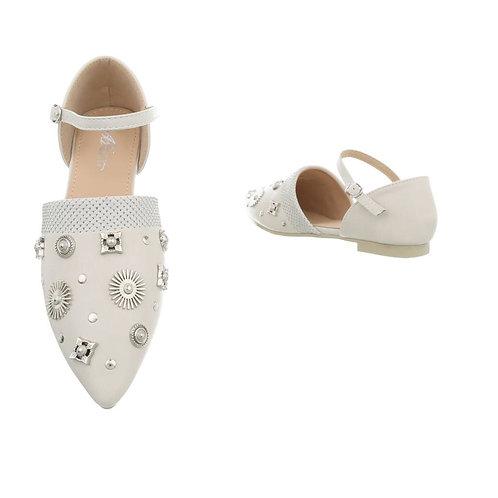 Sandale flach mit Nieten € 29,90 grey  - Preis incl. MwSt. zzgl. Versand
