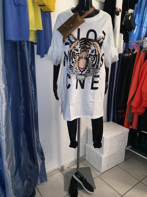 Cooles Longshirt / Kleid Tiger Power - Preis incl. MwSt. zzgl. Versand