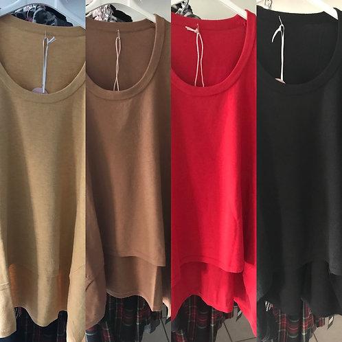 Esvivid Vokuhila Oversize Pullover in 4 Farben-Preis incl.MwSt.zzgl. Versand