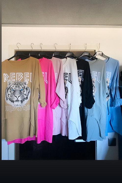 "Oversize Sweater ""Rebel"" in 7 Farben - Preis incl. Mwst. Zzgl. Versand"