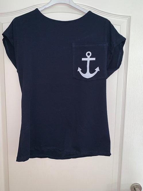 Maritimes Shirt mit Anker - Preis incl. MwSt. Zzgl. Versand