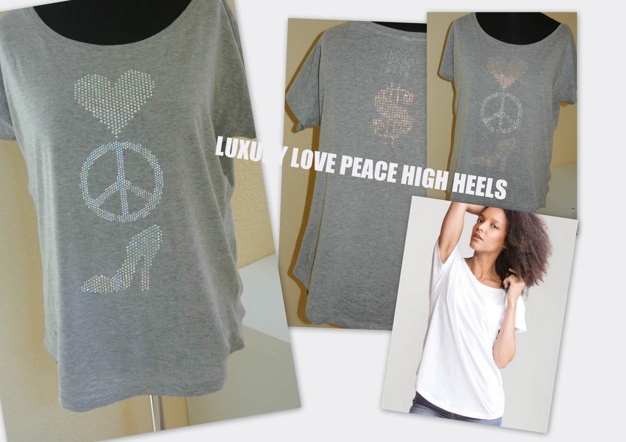 LUXURY LOVE PEACE HIGH HEELS