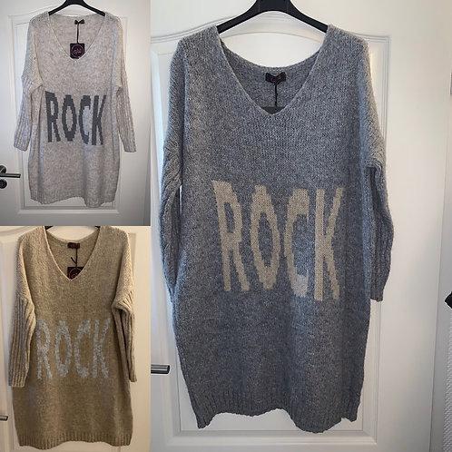 "Strickkleid/Longpullover  ""ROCK"" in 3 Farben - Preis incl. MwSt. Zzgl. Versand"