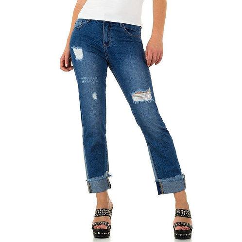 Jeans mit Umschlag und Cutouts ohne Elasthan Preis incl. MwSt. zzgl. Versand