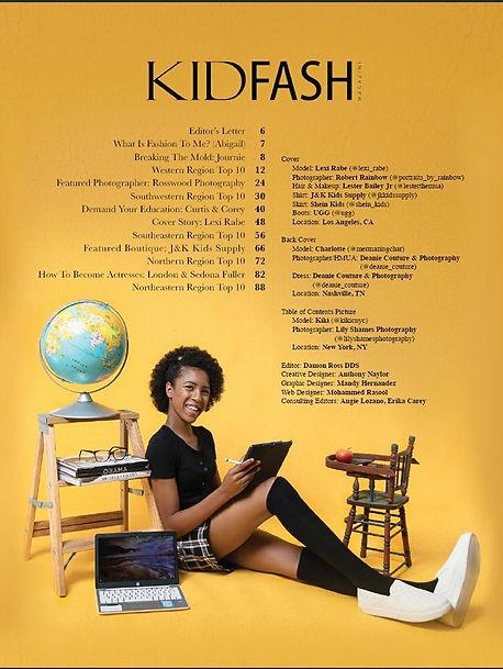KidFash Magazine January Education Editi