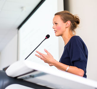 professor presenting research