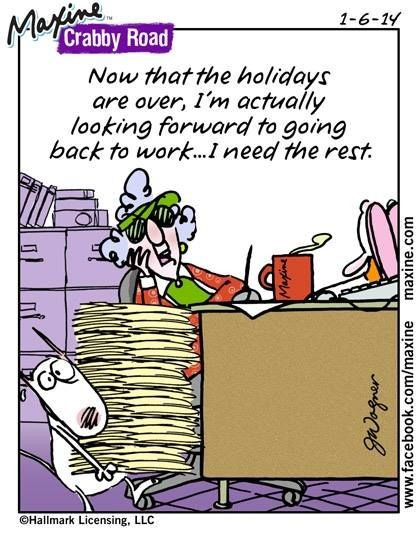 Maxine comic. Back to work.