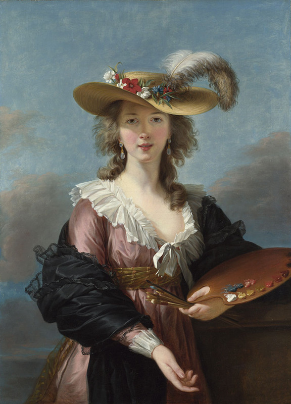 Vigée Le Brun's Self Portrait in a Straw Hat (1782)