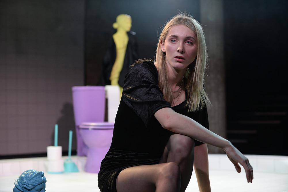 Reece Lyons as Rosie in Overflow (photo Sharron Wallace)