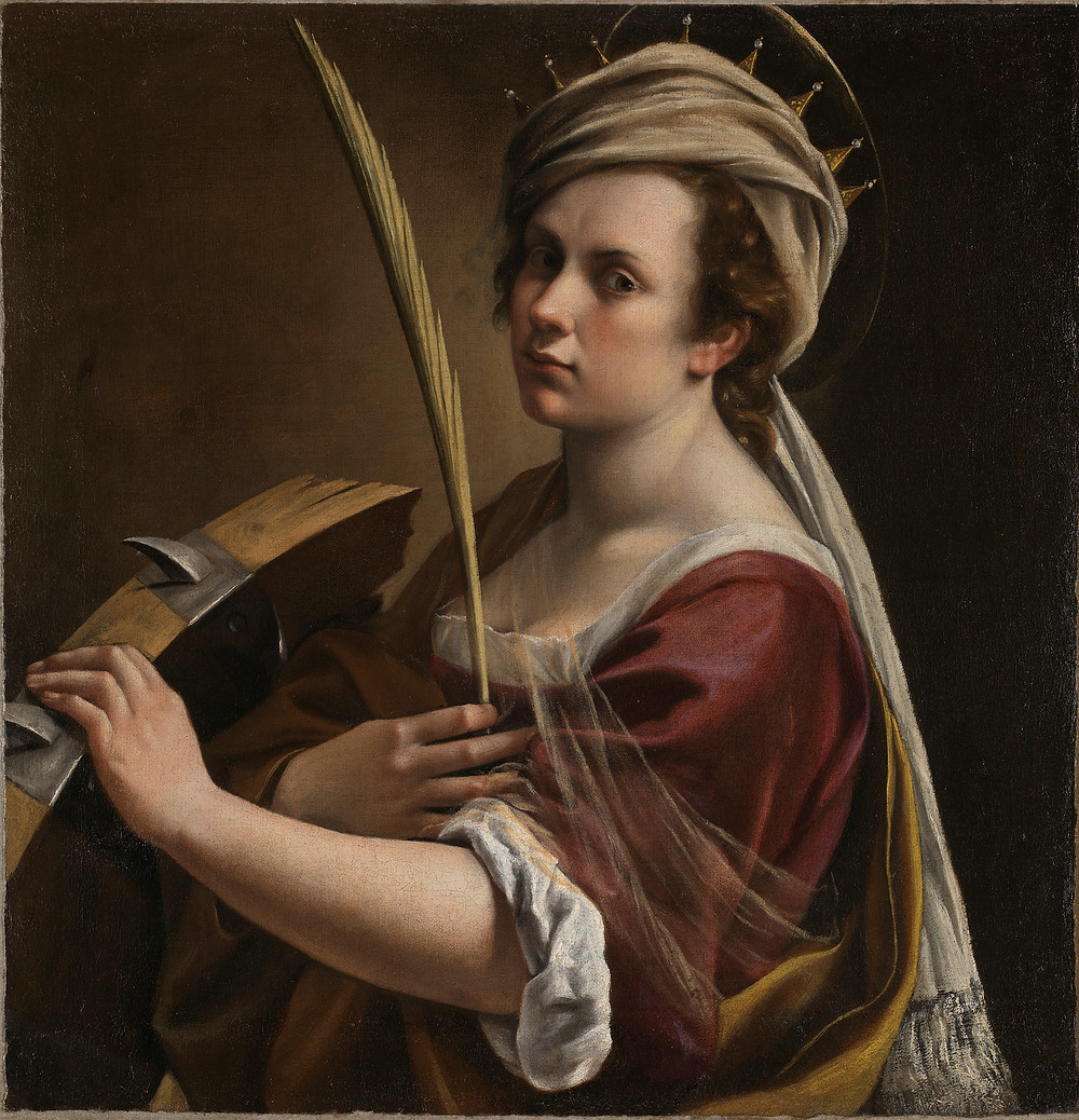 Self Portrait as Saint Catherine of Alexandria Artemisia Gentileschi about 1615-1617