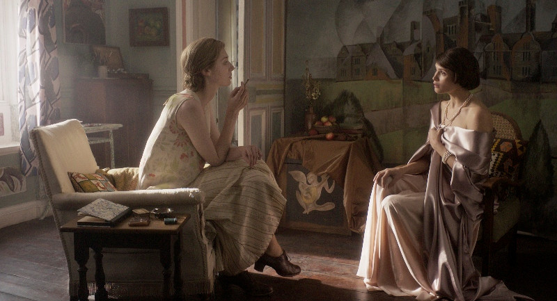 Elizabeth Debick and Gemma Arterton in Vita & Virginia directed by Chanya Button from Eileen Atkin's play