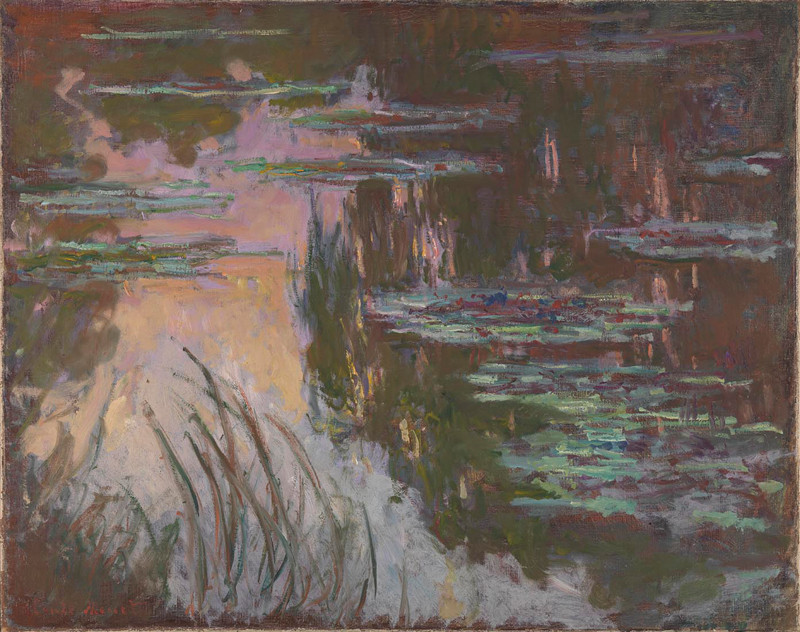 Water-Lilies, Setting Sun 1907 by Claude Monet