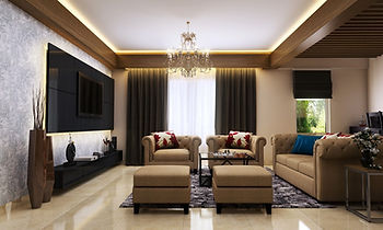 Drawing room furniture work at Sunworld Vanalika, Noida
