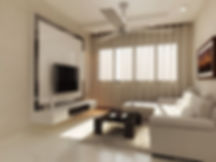 Living room painting work at Lotus Panache, Noida