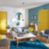 Living room design in New Delhi