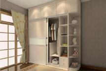 Wardrobe with loft for bedroom