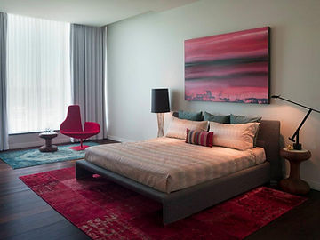 Red color Master bedroom