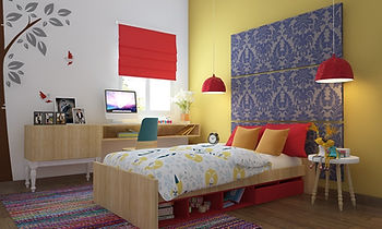 Bedroom design at Elite Homz, Noida