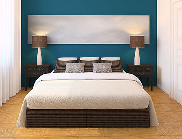 Bedroom color solution by Jeetu Interiors