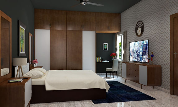Wardrobe design at Lotus Panache, Noida