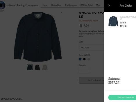 Ordena online tu mercancía
