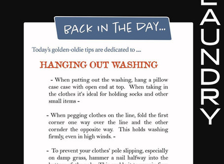 Back In The Day: Hanging Out Washing