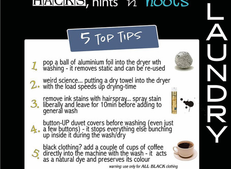 5 Top Tips: Stain Removal and Drying