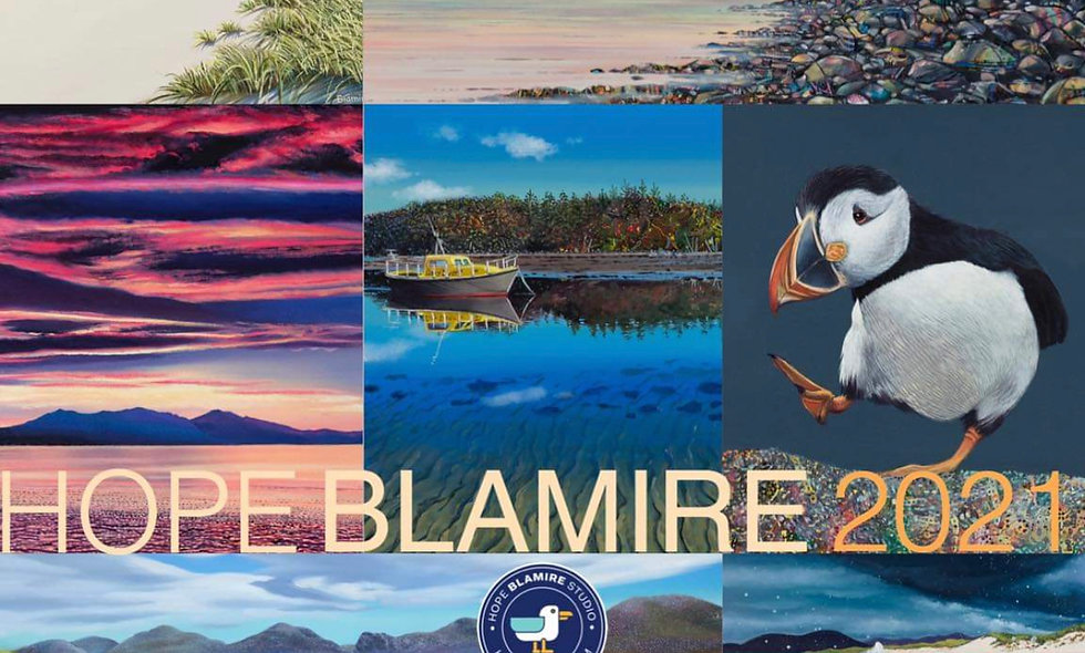 Front page Hope Blamire 2021 calendar