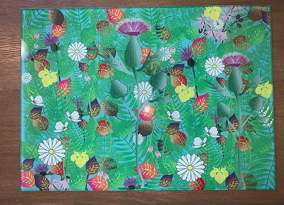 'Island Flowers' Chopping Board