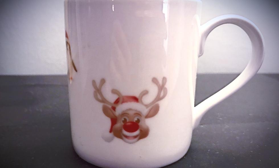 Christmas Bone China Mug (8oz)