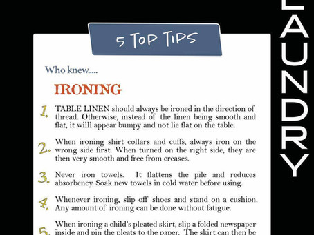 5 TOP TIPS: Ironing