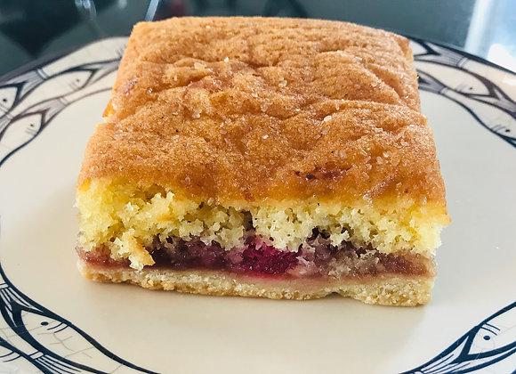 Raspberry Sponge Tart